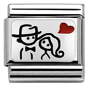 Nomination Silvershine Couple Heart Charm