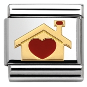 Home with Heart Charm by Nomination