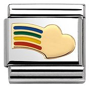 Nomination Rainbow Heart Charm