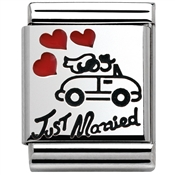 Nomination Silvershine Big Just Married Charm