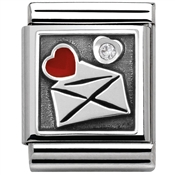 Nomination Silvershine Big Love Letter Charm