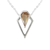 Argento Outlet Champagne Point Necklace Moganite