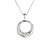 Argento Outlet Cubic Zirconia Swirl Wreath Necklace