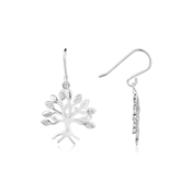 Argento Outlet Cubic Zirconia Tree Drop Earrings
