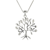 Argento Cubic Zirconia Tree Necklace