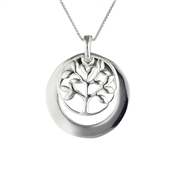 Argento Tree and Circle Necklace