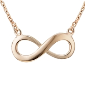 Argento Rose Gold Infinity Necklace