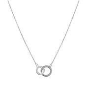 Argento Interlink Cubic Zirconia Circle Necklace