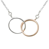 Argento Interlink Mix Rose Gold Necklace
