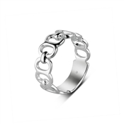 Argento Outlet Open Ovals Band Ring