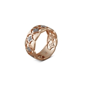 Argento Rose Gold Cubic Zirconia Pattern Ring