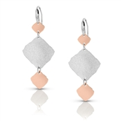 Nomination Ninfea Triple Silver and Rose Gold Earrings