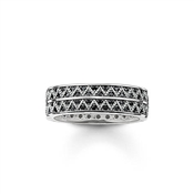 Thomas Sabo Blackened Silver Zig Zag Ring