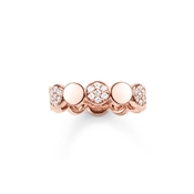 Thomas Sabo Rose Gold Sparkling Circles Ring