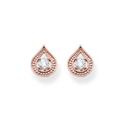 Thomas Sabo Rose Gold Purity of Lotos Stud Earrings