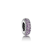 Pandora Fancy Purple Pavé Inspiration Spacer Charm