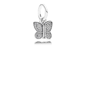 PANDORA Sparkling Butterfly Pendant Charm