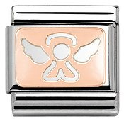Rose Gold Angel Charm by Nomination