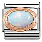 Nomination Rose Gold White Opal Charm