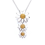 Daisy London Three Drop Daisy Necklace