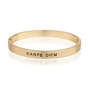 August Woods Gold Carpe Diem Bangle