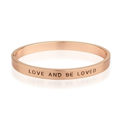 Affirmations Rose Gold Love and be Loved Bangle
