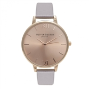 Olivia Burton Big Dial Lilac & Rose Gold Watch