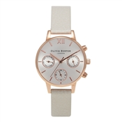 Olivia Burton Midi Chrono Detail Mink & Rose Gold Watch