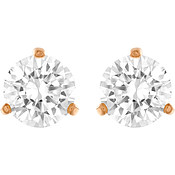 Swarovski Rose Gold Solitaire Crystal Earrings