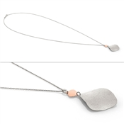 Nomination Ninfea Long Silver and Rose Gold Necklace