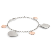 Nomination Ninfea Silver and Rose Gold Pendants Bracelet