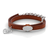 Nomination PARADISO Leather Heart Bracelet