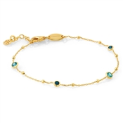 Nomination Bella Gold Blue CZ Mix Bracelet