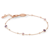 Nomination Bella Rose Gold Purple Mix Bracelet