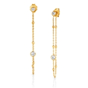 Nomination Bella Gold CZ Earrings