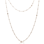 Nomination Bella Long Rose Gold CZ Necklace