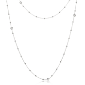 Nomination Bella Long Silver CZ Necklace