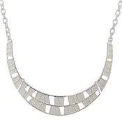 August Woods Frosted  Geometric Collar Necklace