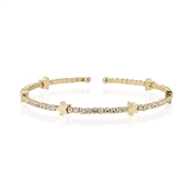 Dirty Ruby Outlet Sparkling Gold Star Bangle