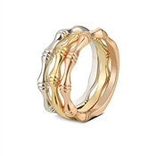 Dirty Ruby Outlet Mix Metal Wave Stacking Rings