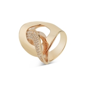 August Woods Outlet  Rose Gold CZ Interlink Ring