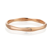 August Woods Rose Gold CZ Interval Bangle