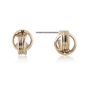 August Woods Rose Gold CZ Knot Studs