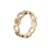 August Woods Rose Gold CZ Open Circles Ring
