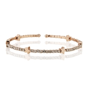 Dirty Ruby Rose Gold CZ Star Bangle