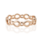 August Woods Rose Gold Open Ovals Bangle