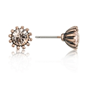 August Woods Rose Gold Peach Crystal Studs