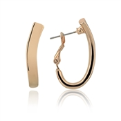 August Woods Rose Gold Statement Hoop Earrings