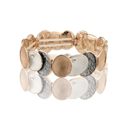 August Woods Rose Gold Trio Circle Bracelet