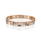 August Woods Rose Gold Trio Geometric Bracelet